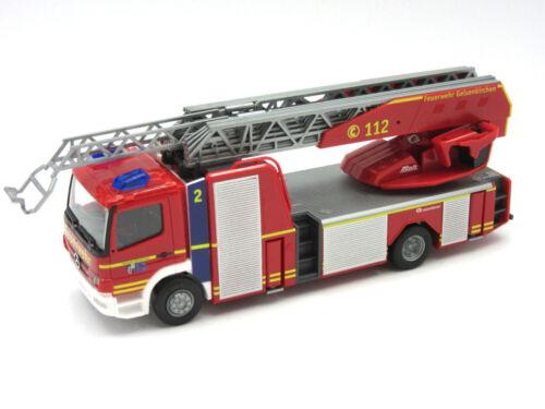 """HERPA Modell 1:87//H0 MB Atego Rosenbauer Drehleiter /""""Feuerwehr/"""" #093729 NEU"""