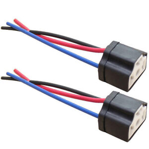 2Pcs-H4-9003-Ceramic-Female-Pigtail-Connector-Plug-Socket-Wiring-Harness-Proper