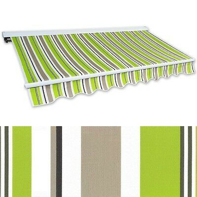 Kassettenmarkise Hülsenmarkise 4x2,5m grün-braun Gelenkarm Sonnenschutz Alu