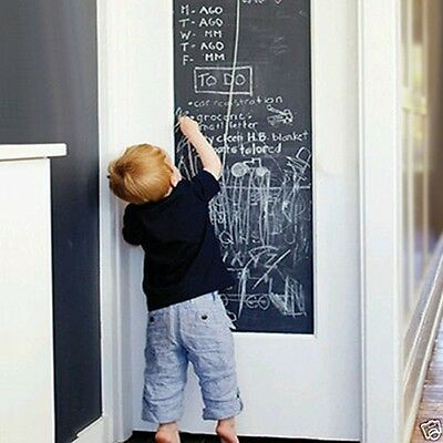 Blackboard Removable Vinyl Wall Sticker Chalkboard Decal Chalk Board 78.7x17.7''