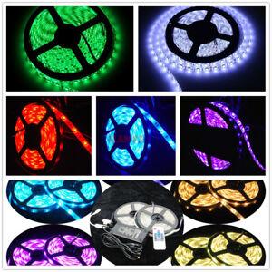 3m-5m-10m-LED-Strip-RGB-stripe-warm-weiss-Band-streifen-5050-3528-Lichtband-trafo