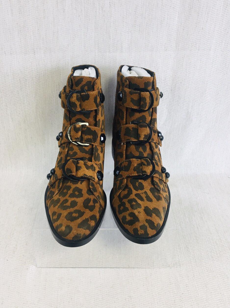! nuevo! KAT Maconie, Elsie 'Estampado de Leopardo Botas al Tobillo UK4, EUR37