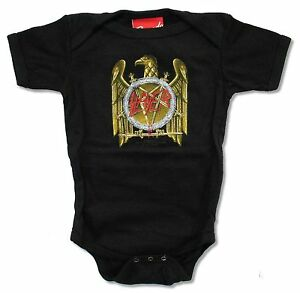 Slayer Golden Eagle Baby Infant Black Crawler Jumper Suit New Official Merch