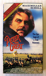 Peter The Great Tv Movie Miniseries Complete On 1 Vhs Maximilian Schell 92091109830 Ebay