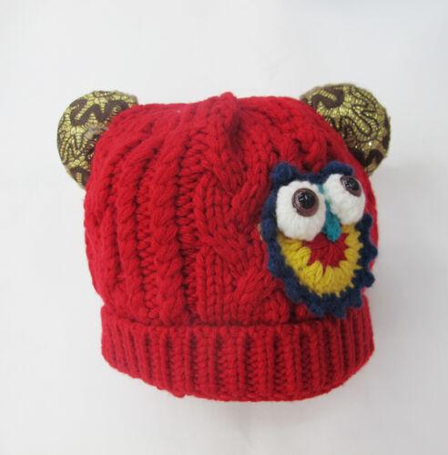 Cartoon Character Boys Girls Kids  Wool Knitted Winter Warm Hats Caps