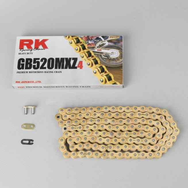 RK GB520MXZ3 4 Motocross Moto Racing Chain oro Premium