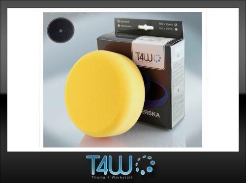 "T4W Polishing pad sponge ""velcro"" 150×50 mm /  yellow (semi-soft)"