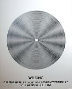 Ludwig WILDING-cinetica composizione. esposizione MANIFESTO. 1970.