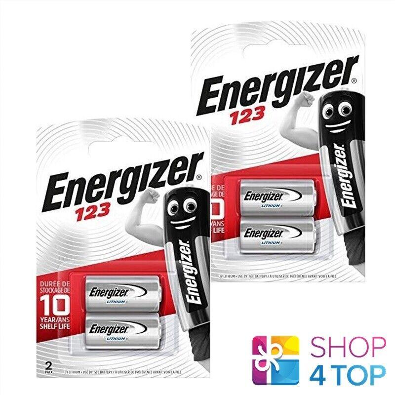 4 Energizer cr123 Lithium 3v Batteries dl123a 123a Exp 2027 NEW