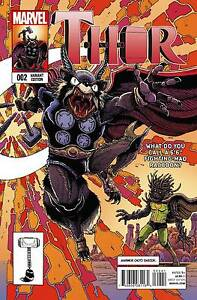 Details about Thor #2 2015 Marvel Comics Rocket Raccoon & Groot Variant  James Stokoe Cover