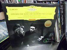 Herbert Von Karajan Christoph Eschenbach piano Japan Import LP DGG EX Red Tulip