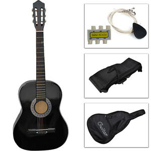 New-Beginners-Acoustic-Guitar-with-Guitar-Case-Strap-Tuner-and-Pick-Black
