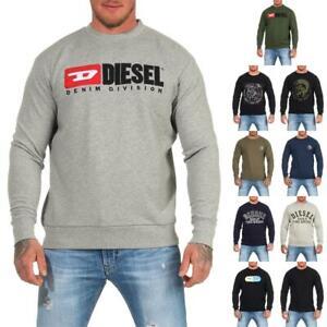 DIESEL-Sweatshirt-Herren-Rundhals-Pullover-Crew-Neck-Sweater-Pulli