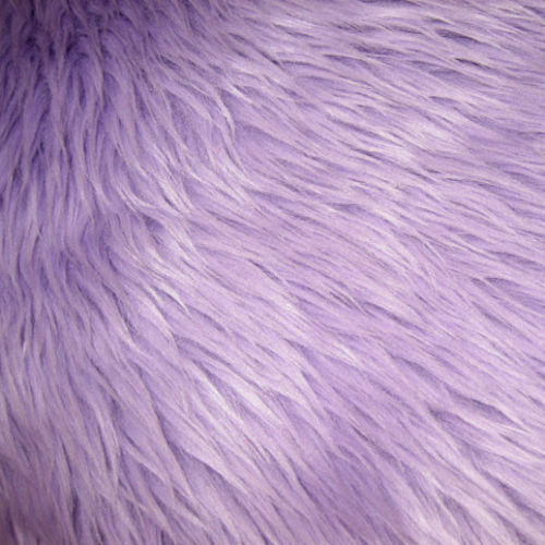 """Sold By the Yard Velboa Fabric SOLID LAVENDER Short Pile Faux Fur 60/"""" W"""
