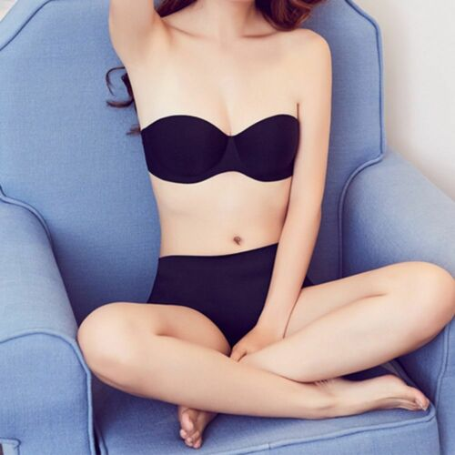 With HOT Breast Lift A Cup Women Push Up Strapless Back Braces Invisible Bra