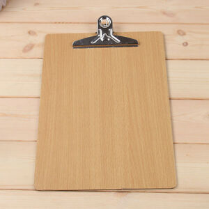 quality wooden clipboard with hanging hole menu a4 clip board office