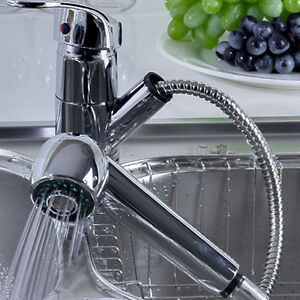Pull-Out-Mixer-Faucet-Water-Tap-Home-Kitchen-Solid-Basin-Bathroom-Sink-UK-STOCK