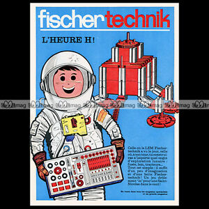 FISCHERTECHNIK-Cosmonaute-1969-Pub-Publicite-Original-Advert-Ad-A929
