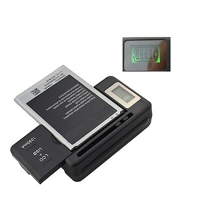 LCD Screen USB AC Phone Battery Wall Charger For Samsung GALAXY S4 Note 2 3 4