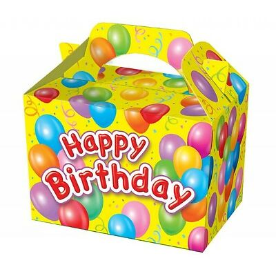Happy Birthday Party Boxes Food Loot Lunch Cardboard Gift Childrens Kids
