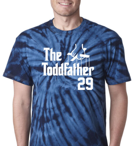 """Tie-Dye Todd Frazier New York Yankees /""""The Toddfather/""""  T-Shirt  Shirt"""