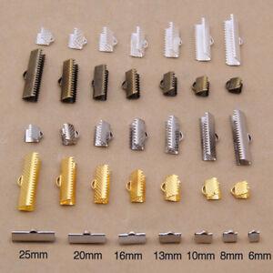 100PCS-Ribbon-Clip-Clamps-Buckle-Lobster-Necklace-Bracelet-Ends-Clasps-Hooks