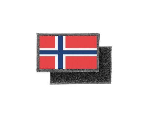 Patch ecusson imprime badge drapeau norvege norvegien