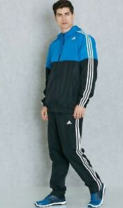 Details about adidas Mens Essentials 3S climalite Full Zip Full Tracksuit Training Top Track M
