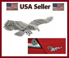 1 New 3D Chrome Eagle / Hawk Emblem Badge USA 3 D Decal For 4 Car & Motorcycle