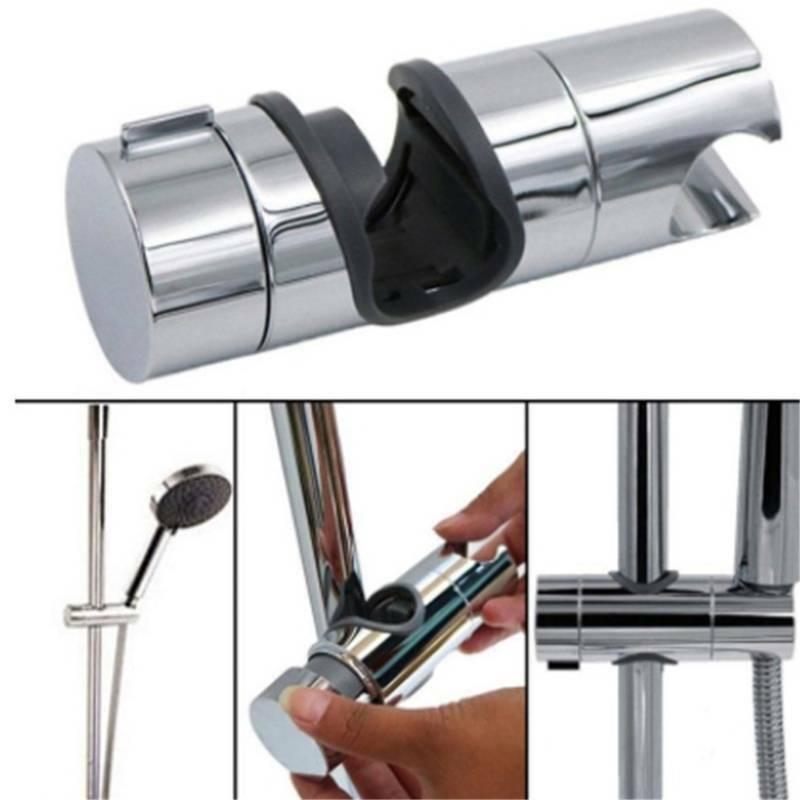 Bathroom Adjustable Shower Slider Rail Bar Shower Head Hose Holder Rack FB