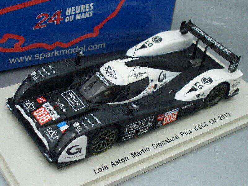 1 43 Spark Lola Aston Martin firma Plus  008 Le Mans 2010