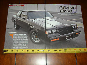 Buick Grand National 2016 >> Details About 1987 Buick Grand National Original 2016 Article