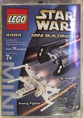 X-wing Fighter TIE Advanced Lego 4484 Star Wars ANH Mini Building Set 2003 New