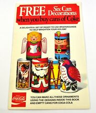 Coca-Cola Coke Handicraft sheets Cans Weihnachtsdeko USA Christmas Six Can