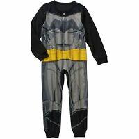 Dc Comics Batman Long Sleeve Sleeper Blanket Pajama Boy Size S 6/7