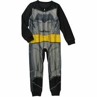 Dc Comics Batman Long Sleeve Sleeper Blanket Pajama Boy Size S 6/7