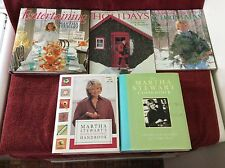 Martha Stewart Lot of 5 Cookbooks Holiday Christmas Entertaining Hors D'Oeuvres