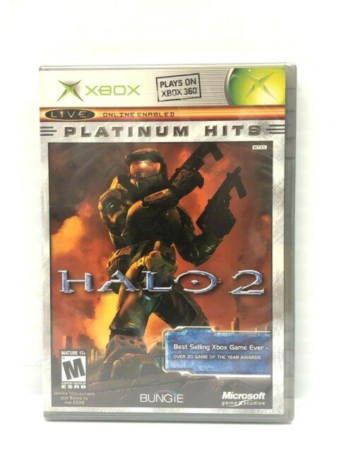 XBOX ORIGINAL PLATINUM HITS HALO 2 VIDEO GAME NEW SEALED 1994