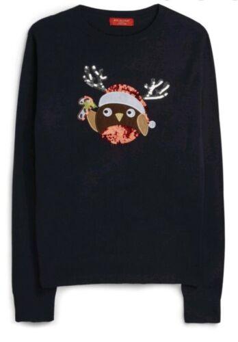 Nouveau Noël Femmes rindeer Paillettes Pull en mailles de PRIMARK