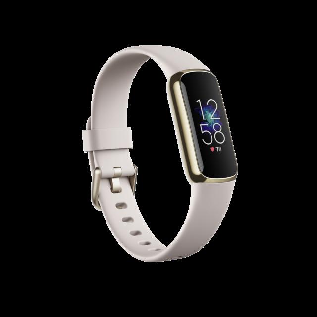 Fitbit Luxe OLED Fitnesstracker S/L Laufzeit bis: 5 Tag(e) Gold, Weiß Gold, Weiß