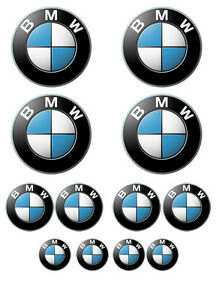 12-pezzi-Sticker-adesivi-in-vinile-BMW-varie-misure