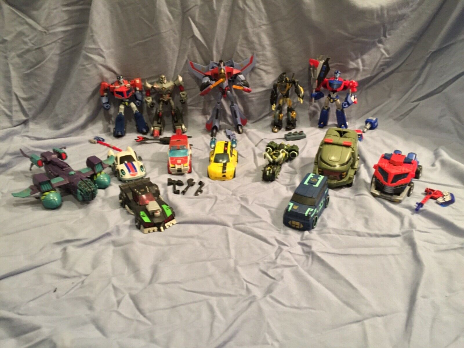 MassiveTransformers Action Figur Toy Lot of 14 Figures Decepticons och Autobot