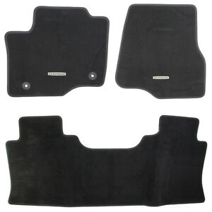 Oem New 17 20 Ford Super Duty Platinum Logo Black Crew Cab Carpet Floor Mats Ebay
