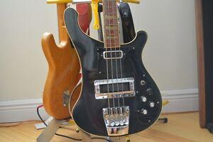 1976-RICKENBACKER-Stereo-4001-Bass-Rare-all-Black