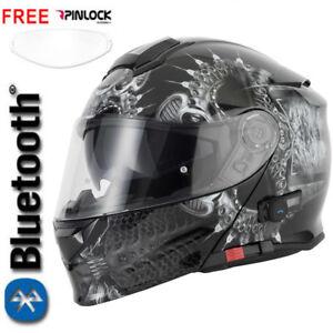 VCAN-V271-BLUETOOTH-BLINC-FLIP-FRONT-MOTORCYCLE-HELMET-FREE-PINLOCK-DROGON