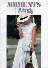 ~ Wendy Moments Knitting Pattern Book ~ 12 Summery Knits ~