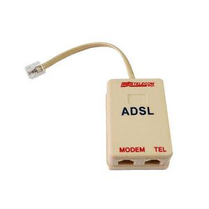 100% Vrai ★filtro Adsl Telefono Telecom Presa Rj 11 Telefonico Modem Splitter Plug Fax★