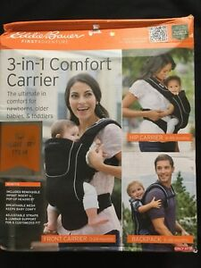 d9a101ce16e Eddie Bauer 3-in-1 Comfort Baby Carrier Black new 71534528742