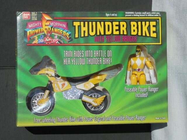 Mighty Morphin Power Rangers Thunder Bike Yellow Ranger MIB never opened 1994