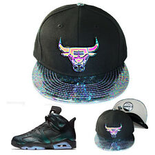 Rare New Era Chicago Bulls Snapback Hat Metalic Badge Logo Air Jordan 6 All Star